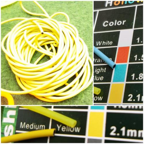 HOLLOW COLOR 5m D2,1mm yellow/BLACK